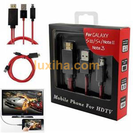 mobile phone for HDTV S۳ S۴S۵ Nکابل تبدیل MHL به HDMI سامسونگ S5 N7100 S3 Note 3