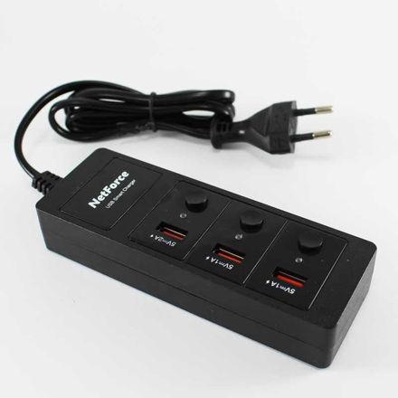 charger ۳ port  Netforce UPS-۰۰۷ luxiha