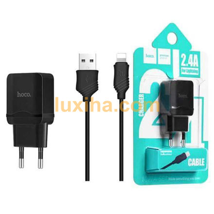 Hoco C۲۲A Charger + Lightning Cable luxiha