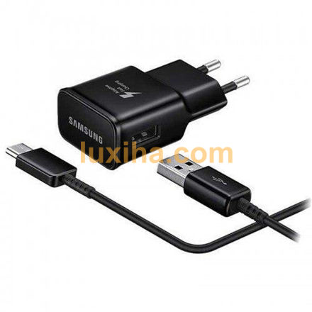 Samsung S10 Single-Port Adaptive Fast wall charger With USB To Type-C Cable luxiha