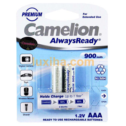 Camelion ۹۰۰ mAh Ni-MH AAA Rechargeble Battery luxiha