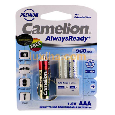 Camelion Always Ready Rechargeable AAA Battery Pack Of 2