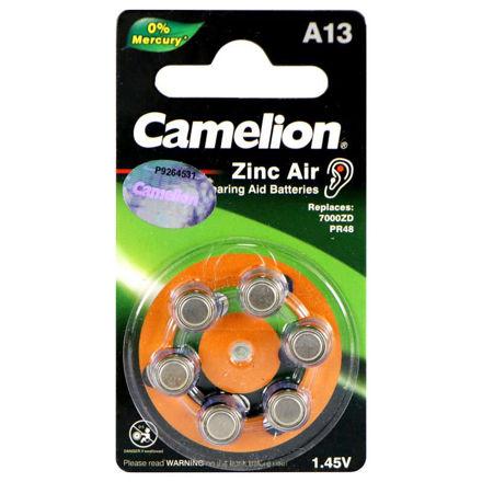 باتری سمعکی Camelion A13 شش عددی