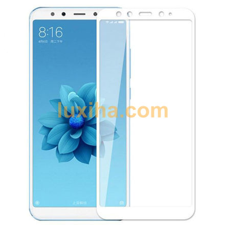 Picture of glass mi 6x/a2 xiaomi full white