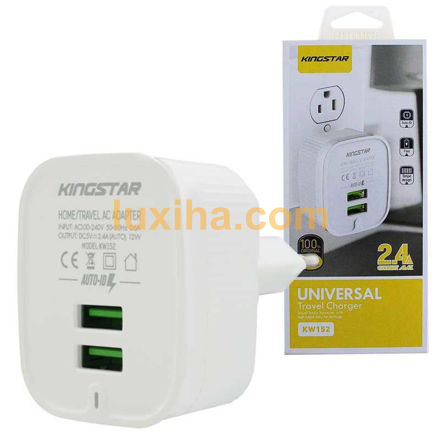 universal travel charger  kingstar kw۱۵۲ ۲.۴A ۲PORT luxiha