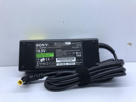 اداپتور سونی اورجینالل سر زرد مدل SO ورودی 100-240 خروجی 19.5V4.74  سایز 6.5*4.4