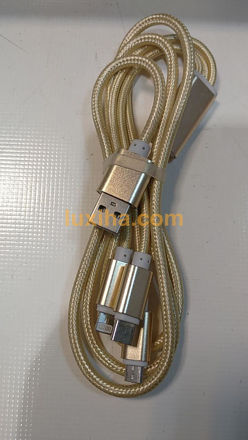 cable charg usb to type-c &iphon & micro usb