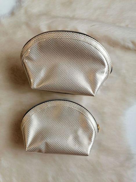کیف آرایشی 202 کرم طلایی کوچک