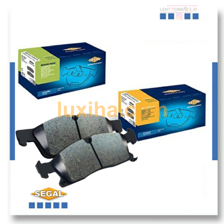Brake pads on the front of Peugeot 207 model 93 down segal brand