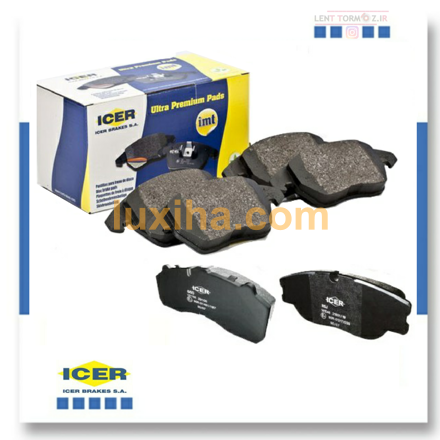 Picture of Mercedes-Benz E550 front wheel brake pads, model 2010 to 2011