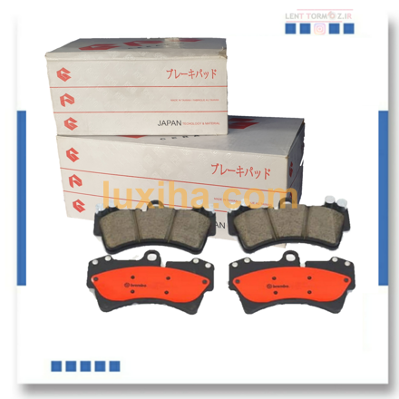 Porsche Cayenne  front wheel brake pads 2008 to 2010 6 our 8 - cylinder brand ceramic Japanese GPG